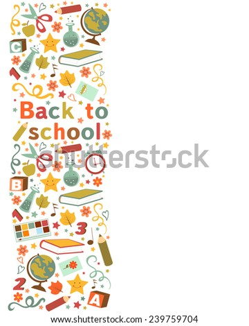 Back to school colorful composition. vector illustration - stock vector