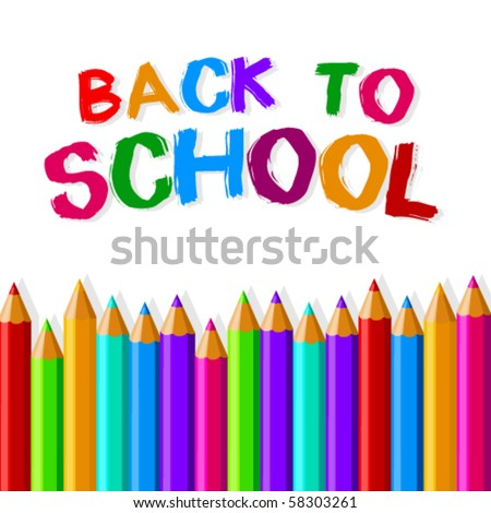Back to school crayons - stock vector