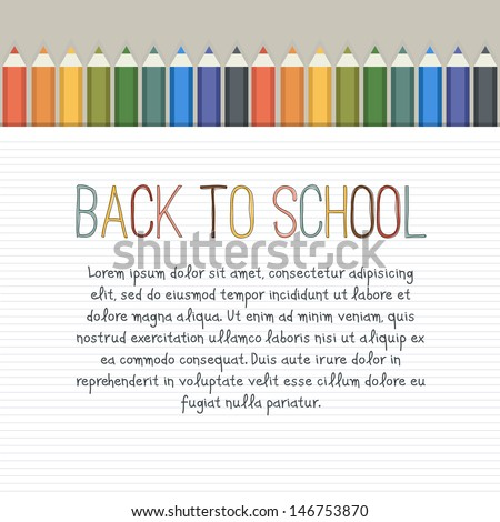 Back to school. Cute vector background with empty place for your text - stock vector