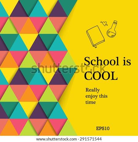Back to school design - stock vector