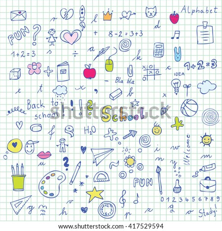 Back to school - design elements - stock vector