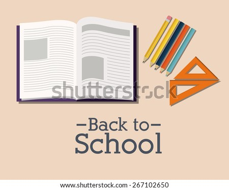 Back to school design over pastel background, vector illustration