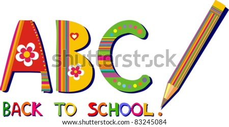 Back to School Design. Vector - stock vector