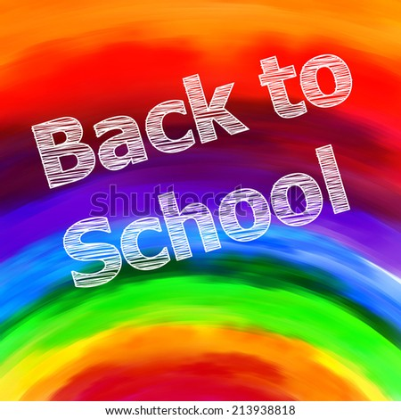 Back to School, easy all editable - stock vector
