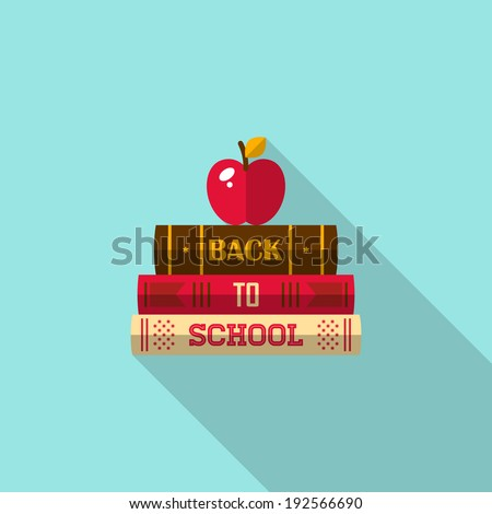 Back Icon Flat Back to School Flat Icon With