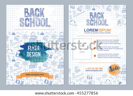 Back School Flyer Template Different School Stock Vector Hd Royalty