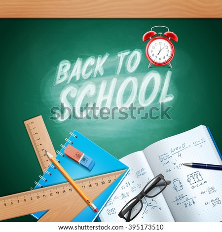 back to school frame - stock vector