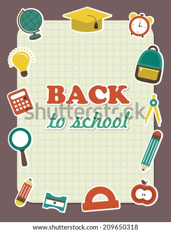 back to school frame design. vector illustration - stock vector