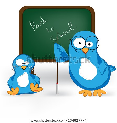 back to school funny decoration - stock vector