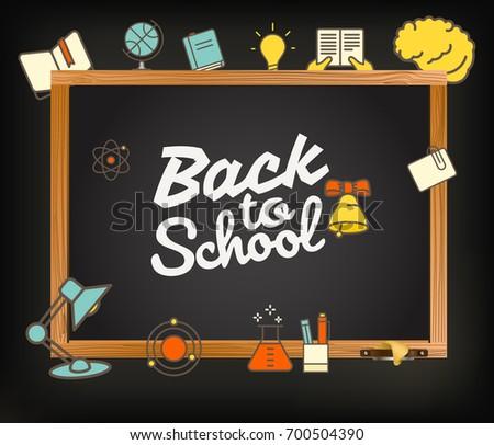 Back school greeting card back school stock vector royalty free back to school greeting card back to school calligraphic vector illustration m4hsunfo