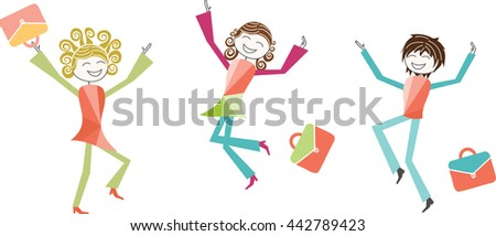 Back To School Or Summer Vacations Children Parents Teachers Jump With Joy