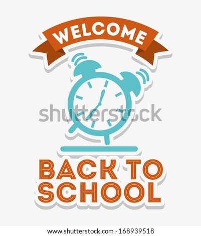 back to school over white background vector illustration - stock vector