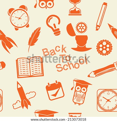 Back to School pattern - stock vector