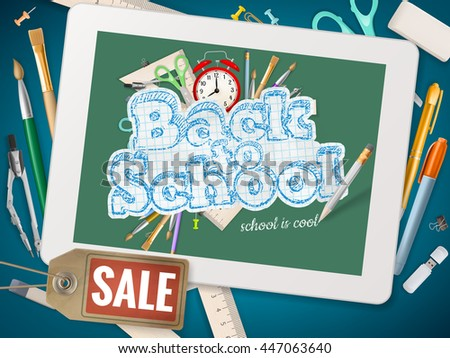 Back to School sale background. EPS 10 vector file included