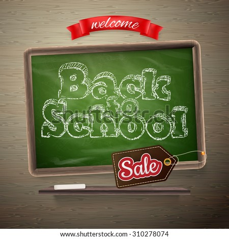 Back to School Sale template. EPS 10 vector file included - stock vector