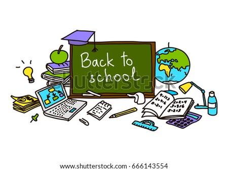 Schulklasse im unterricht clipart  Educated School Child Girl Lifting World Stock Foto 337754357 ...