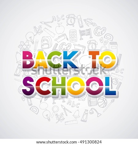 back to school set supplies icon vector illustration design