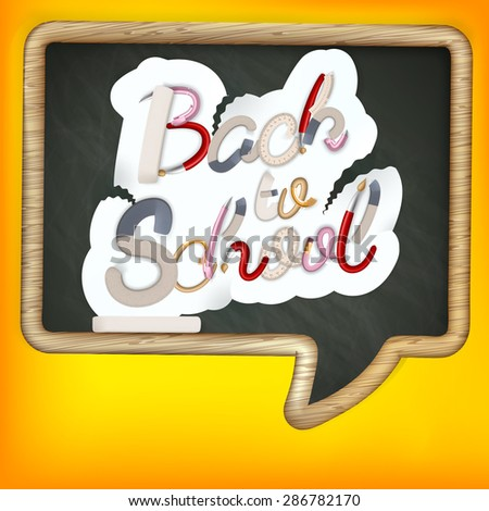 Back to school sign. EPS 10 vector file included - stock vector