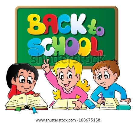 Back to school thematic image 1 - vector illustration. - stock vector