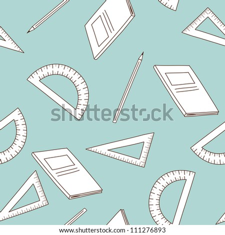 Back to school theme seamless background. Vector illustration.