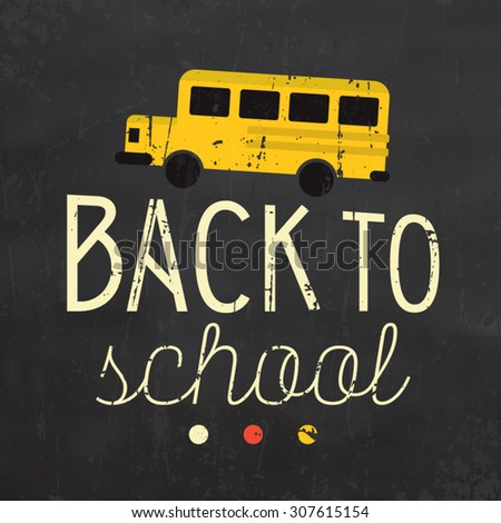 Back to School Typographic Poster - stock vector