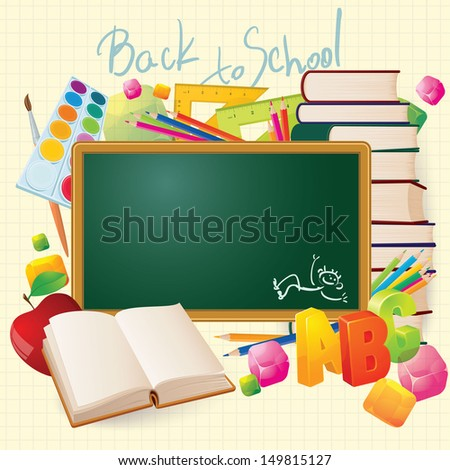Back to school. Vector.