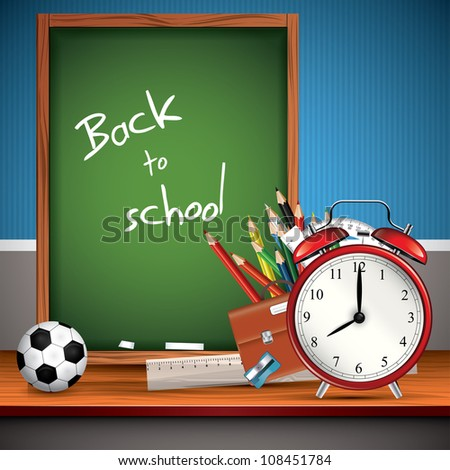 Back to school - Vector background - stock vector