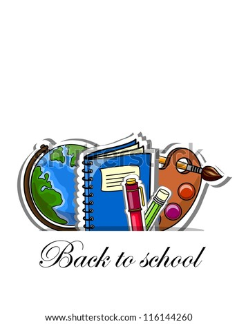 Back to school, vector background  for your design