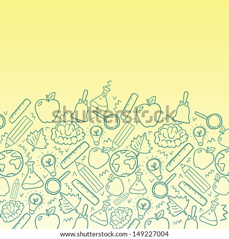 back to school - vector background with education icons - stock vector