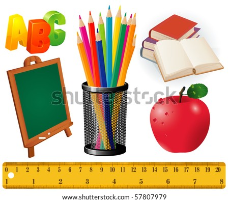 Back to school. Vector design elements set. - stock vector