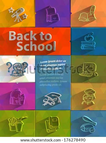 Back to school. Vector format - stock vector