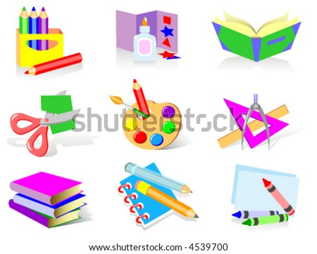Back to school. Vector icons. - stock vector