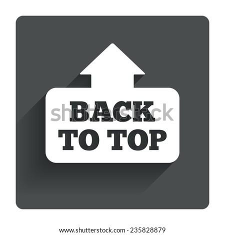 Back Top Arrow Sign Icon Scroll Stock Vector 2018 235828879