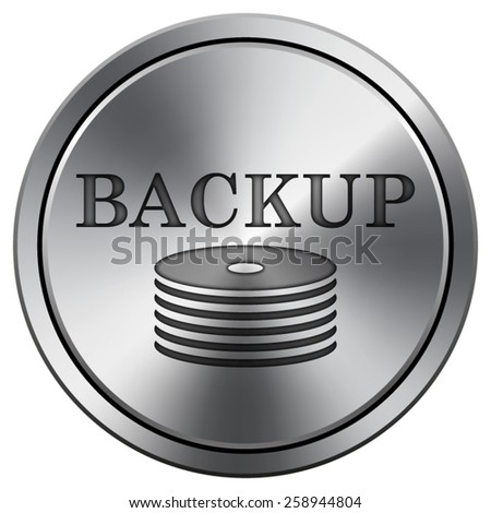 Back-up icon. Internet button on white background. EPS10 Vector.  - stock vector