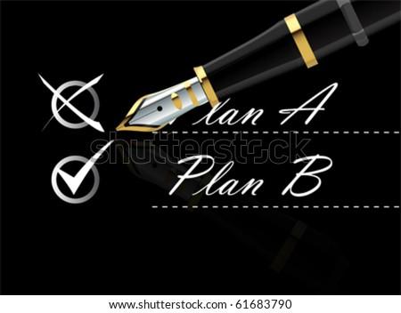 back up plan vector - stock vector
