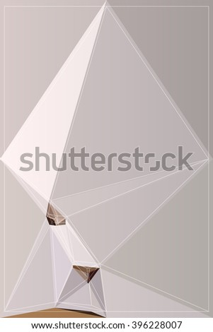 backdrop origami vector graphic