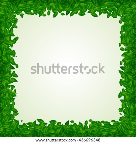 Backdrop with green leaves