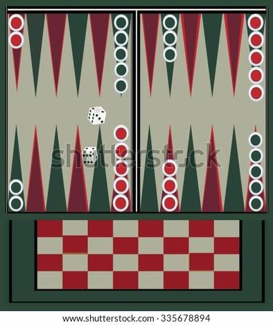 Backgammon table  - stock vector