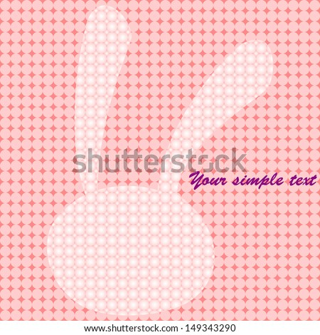 background, abstract rabbit , vector style