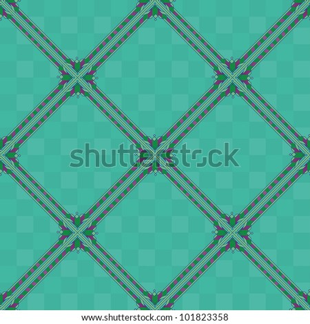 Background, abstract seamless wallpaper design with green squares. Vector - stock vector