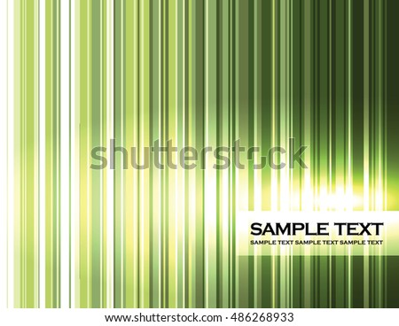 Background. Abstract Shiny Green Illustration with Stripes.