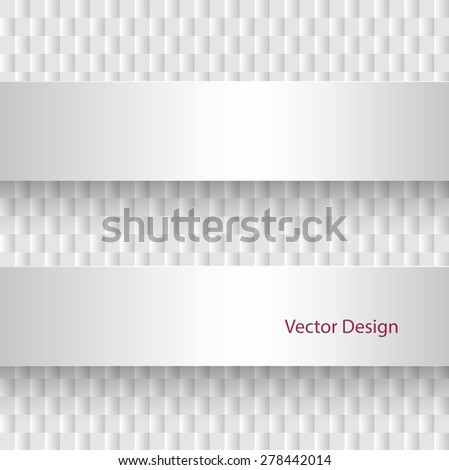 Background abstract square pattern, 3D vector design. - stock vector
