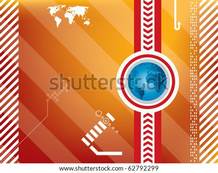 background abstract technology in vector - stock vector