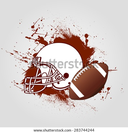 Background American Football - stock vector