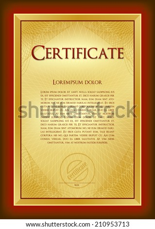 Background and frame to create a base certificate, diploma, gift voucher, memorial certificate, awards, menu for hotels and restaurants, shops, schools, educational agencies