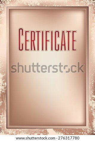 Background and frame to create a base certificate, diploma, gift voucher, memorial certificate, awards, menu for hotels and restaurants, shops, schools, educational agencies - stock vector