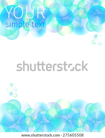 background and texture of blue bubbles - stock vector