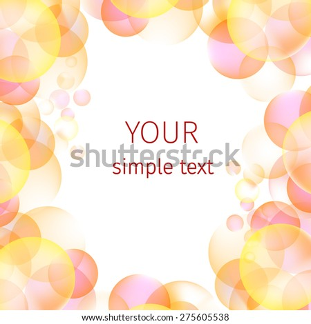 background and texture of colorful bubbles - stock vector
