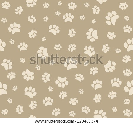 background animal footprints - stock vector
