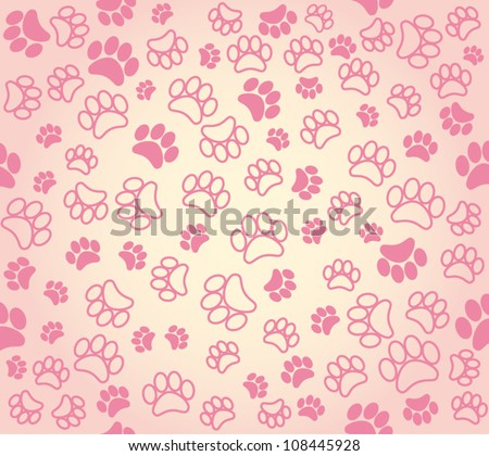 background animal footprints. vector illustration , - stock vector